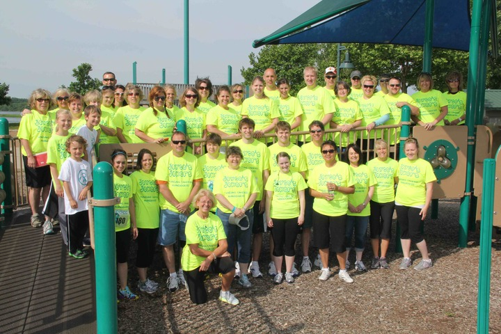 Joyce's Jokers Team At Ovarian Cancer Run/Walk T-Shirt Photo