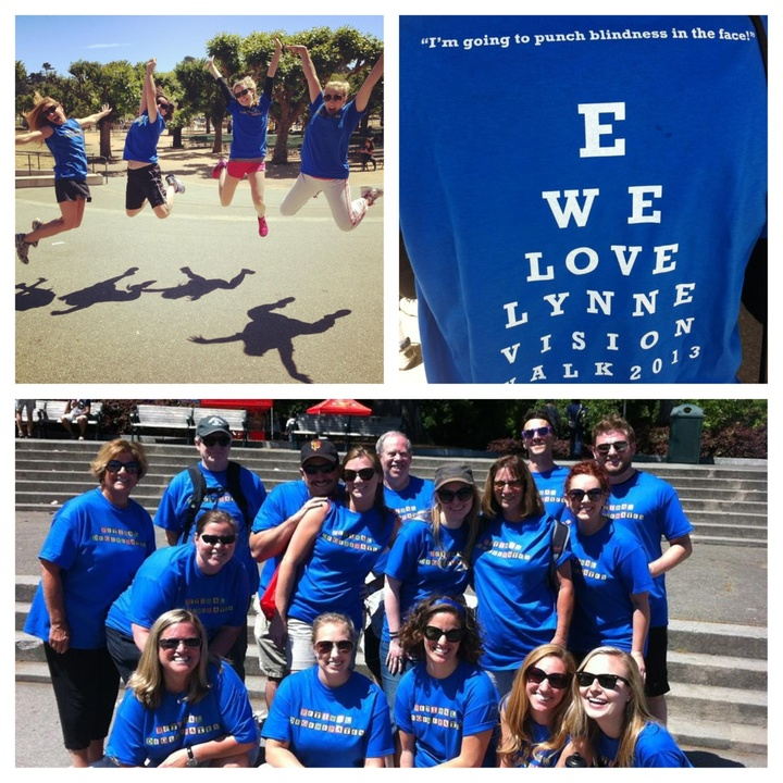 Sf Vision Walk '13  Team Retinal Degenerates! We Love You Mom! T-Shirt Photo