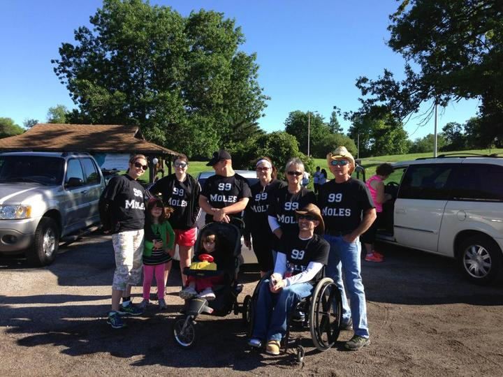 Miles Against Melanoma Team Courtney T-Shirt Photo