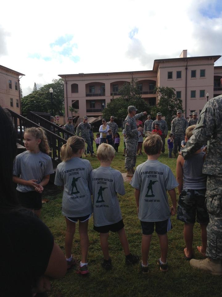 "Kids Getting Their ""Briefing"" T-Shirt Photo"