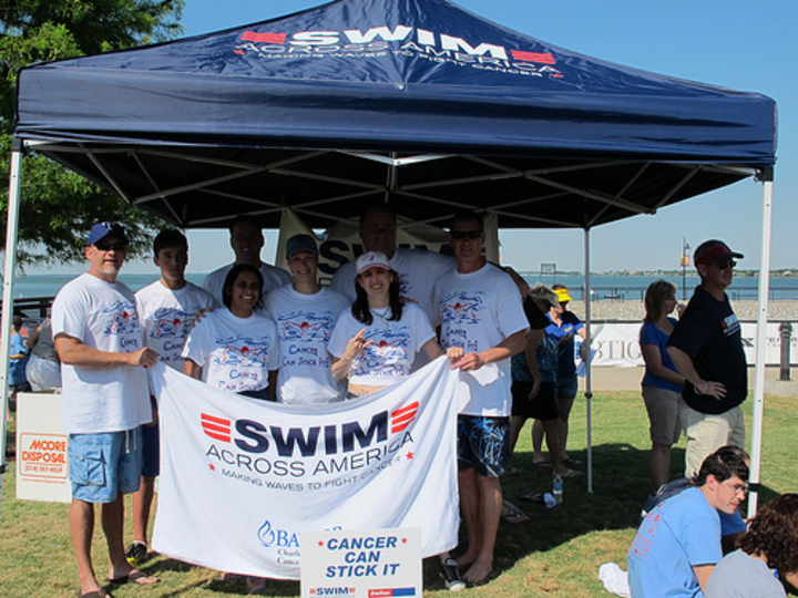 Swimming 2 Miles Open Water With Olympian Swimmers To Fight Cancer! T-Shirt Photo
