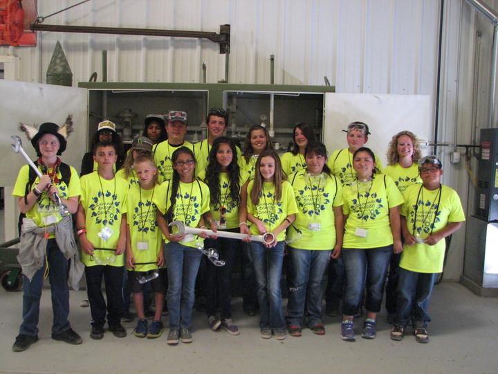 San Juan College Summer Energy Camp At Power Plant T-Shirt Photo