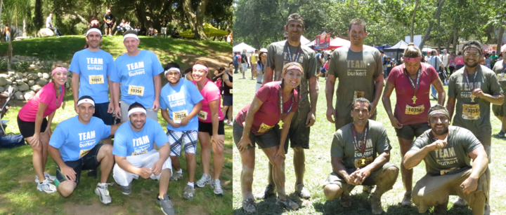 Team Burkert Before&After The Mud Run T-Shirt Photo