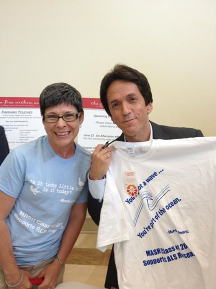 Tuesdays With Morrie Author Mitch Albom Gets Custom Inked T-Shirt Photo
