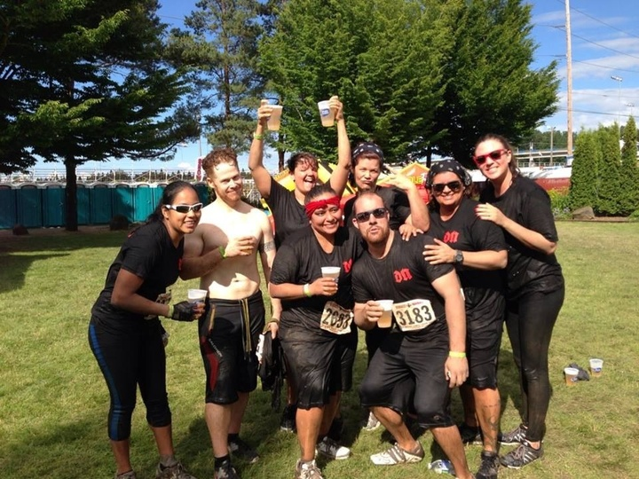 Dingy Ninjas Rockin' It Out At Rugged Maniac! T-Shirt Photo