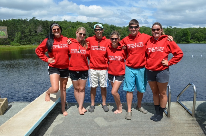 Lifeguarding At Lake Pocono Plateau!  T-Shirt Photo