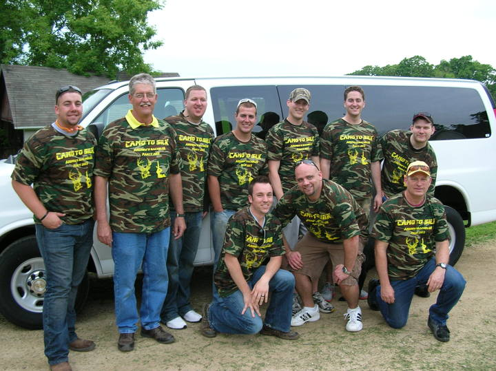 Andrew's Bachelor Party 2013   Camo To Silk T-Shirt Photo