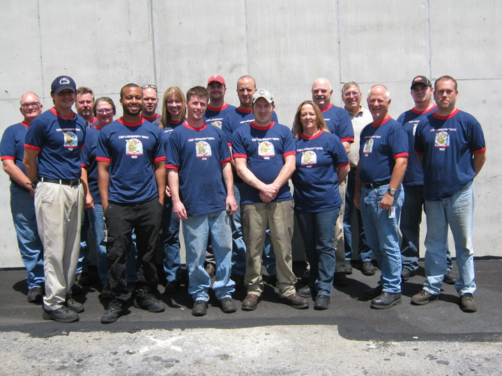 Safety Team With Our New T Shirts! T-Shirt Photo