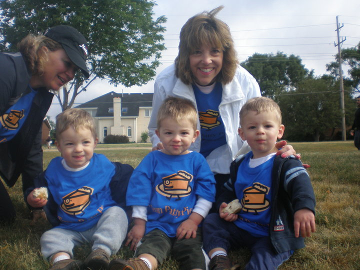A Survivor Grandma And Her Grandsons At A Benefit 5k T-Shirt Photo
