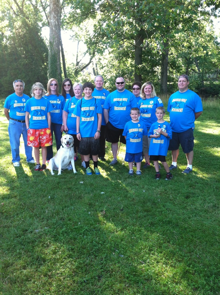 Our First Walk For A Cure Family Team! T-Shirt Photo