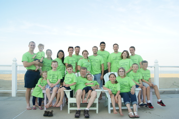 Family Vacation At Sandbridge Beach T-Shirt Photo