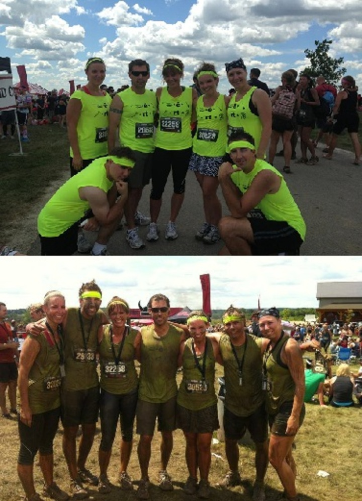 Warrior Dash 2013 (Before/After) T-Shirt Photo