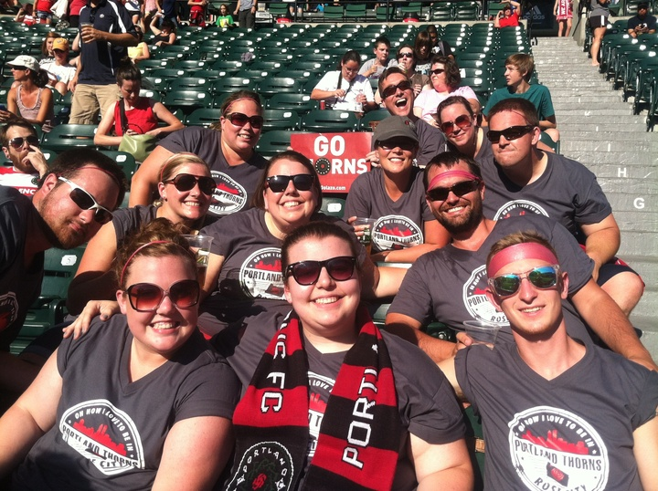 Showing Our Portland Thorns Love!!! T-Shirt Photo