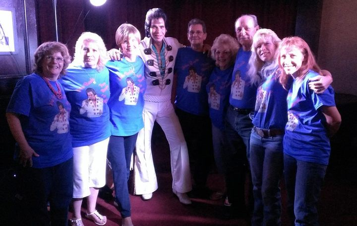 John Brooks, As Elvis, With Some Of His Fans. T-Shirt Photo