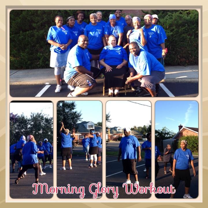 Morning Glory Workout T-Shirt Photo