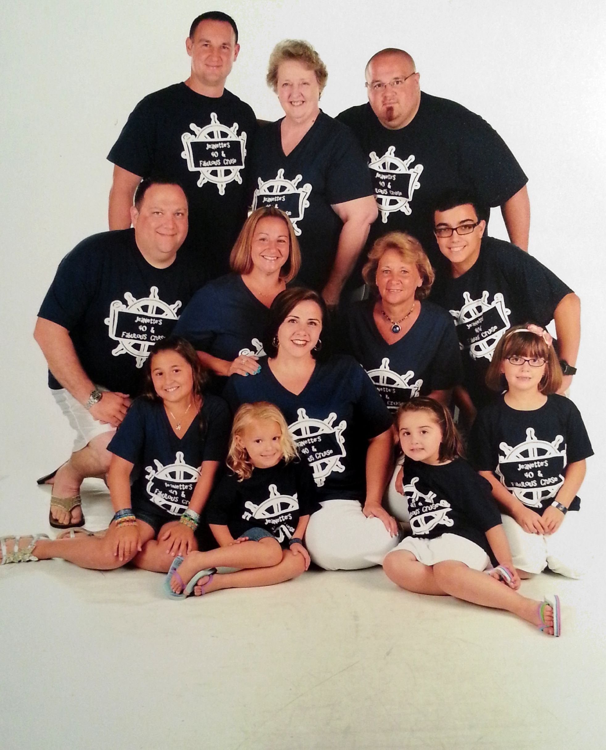 Design t shirt for group - Jeanette S 40 Fabulous Cruise T Shirt Photo