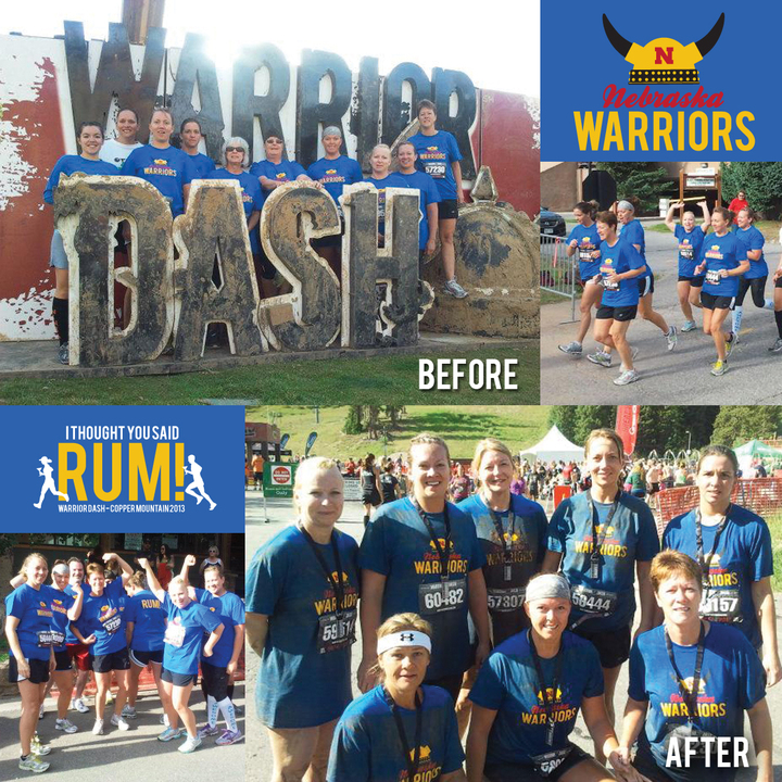 Nebraska Warriors At Warrior Dash! T-Shirt Photo