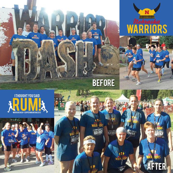 Nebraska Warriors At Warrior Dash! T-Shirt Photo