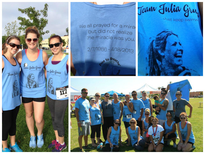 Team Julia Fighting Against Lung Cancer T-Shirt Photo