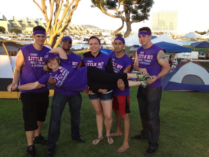 Team Little Bit In The Downtown San Diego Relay For Life Raising Money For The American Cancer Society! T-Shirt Photo