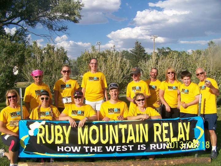2013 Ruby Mountain Relay Finish Line T-Shirt Photo