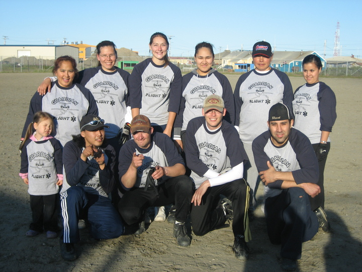 Guardian Flight Co Ed Softball   Alaska Style! T-Shirt Photo