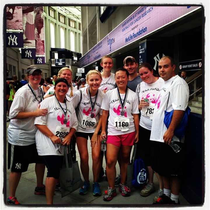 Team Panda At Yankee Stadium 5 K T-Shirt Photo