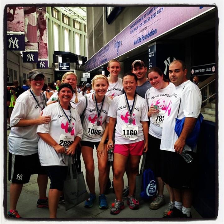Team Panda At Yankee Stadium 5 K T-Shirt Photo