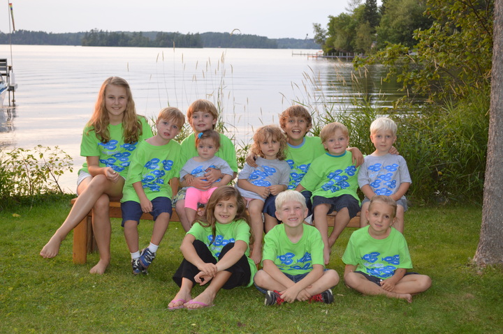 Our 11 Munchkins At Dock O' The Bay T-Shirt Photo
