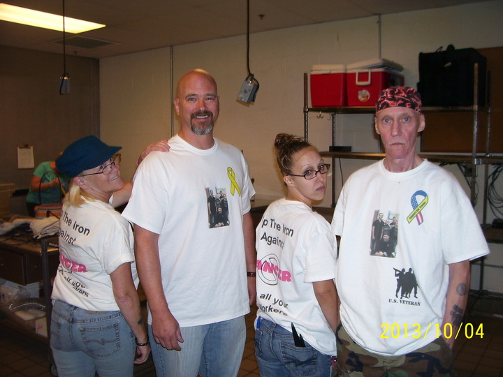 Up The Iron Against Cancer T-Shirt Photo