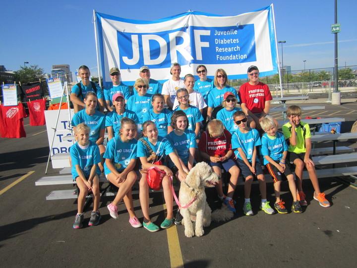 Avery's Jdrf Walk For Diabetes Team T-Shirt Photo