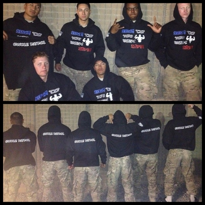 Swole Patrol Afghanistan T-Shirt Photo