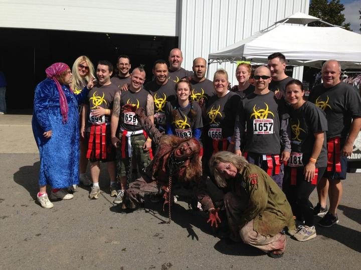 Buffalo Zombie Mud Run   Team 888 Vo Ip T-Shirt Photo