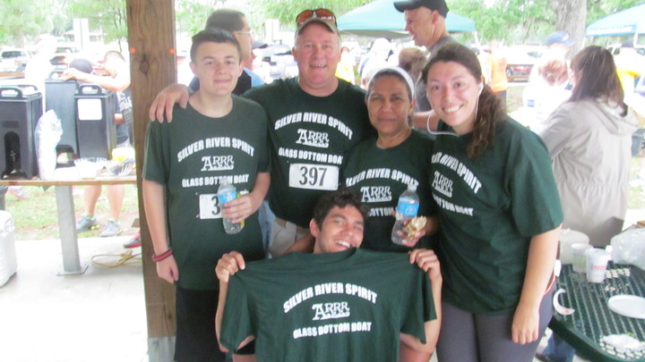Our Cool Custom Ink Shirts Are Sweaty But We All Completed The 5 K! T-Shirt Photo