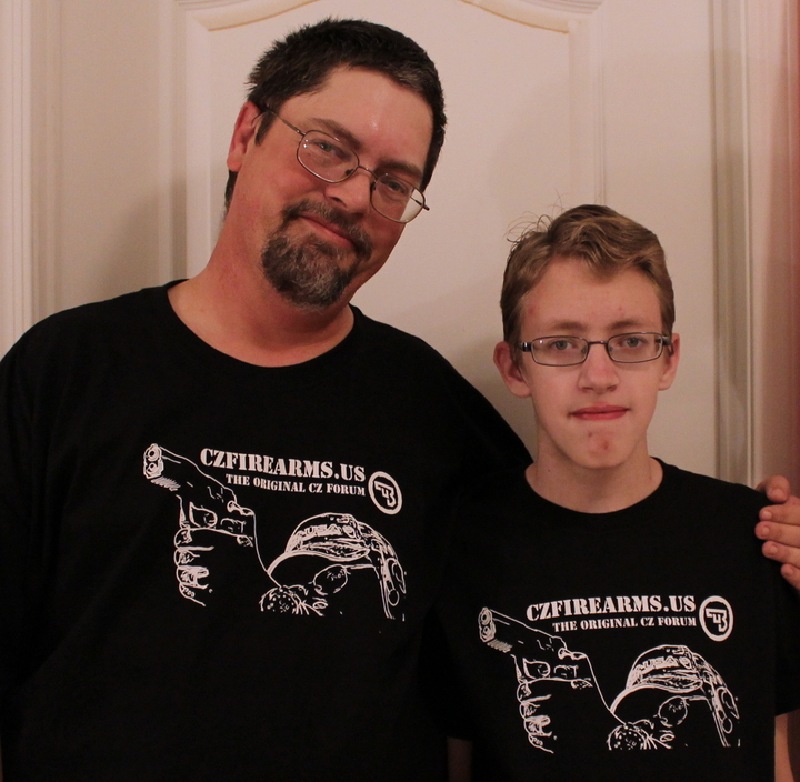Father And Son T-Shirt Photo