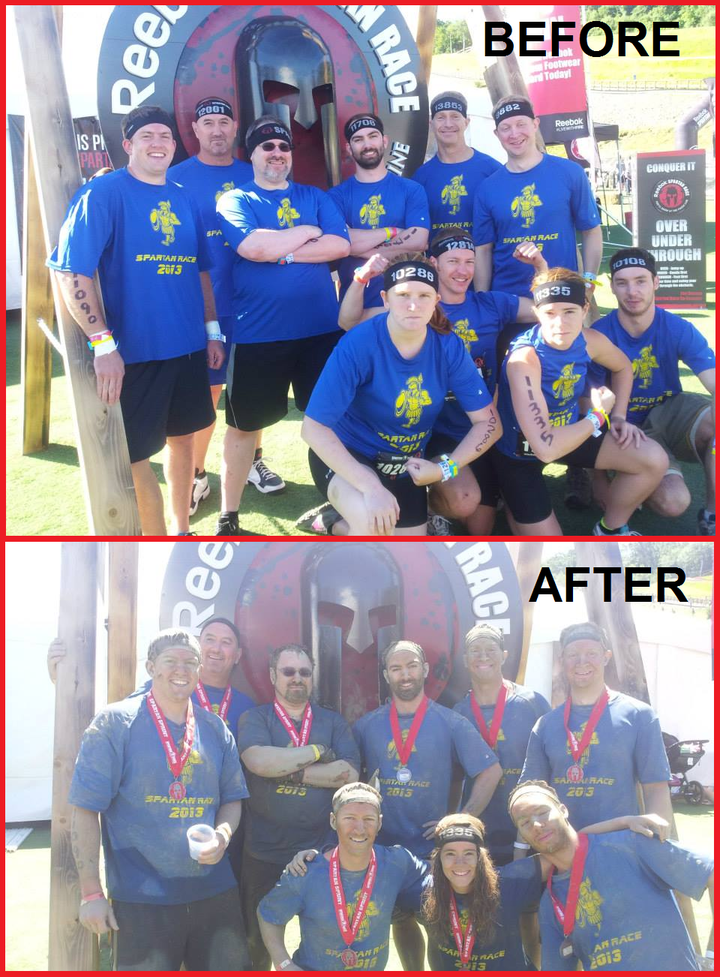 New England Spartan Race   Before & After! T-Shirt Photo
