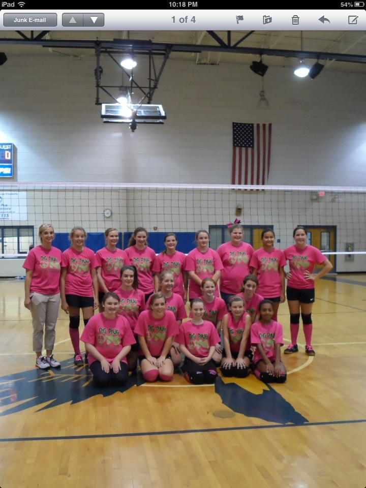 Custom T Shirts For Volleyball Pink Out Game Shirt