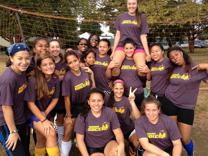 Sewanhaka Girls Soccer Team T-Shirt Photo