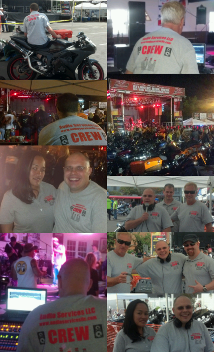 Audio Services Llc From Middletown, New York Was Hired For Full Production For The13th Annual Atlantic Bike Week In Ocean City, Maryland 09/12/13 09/14/13  T-Shirt Photo