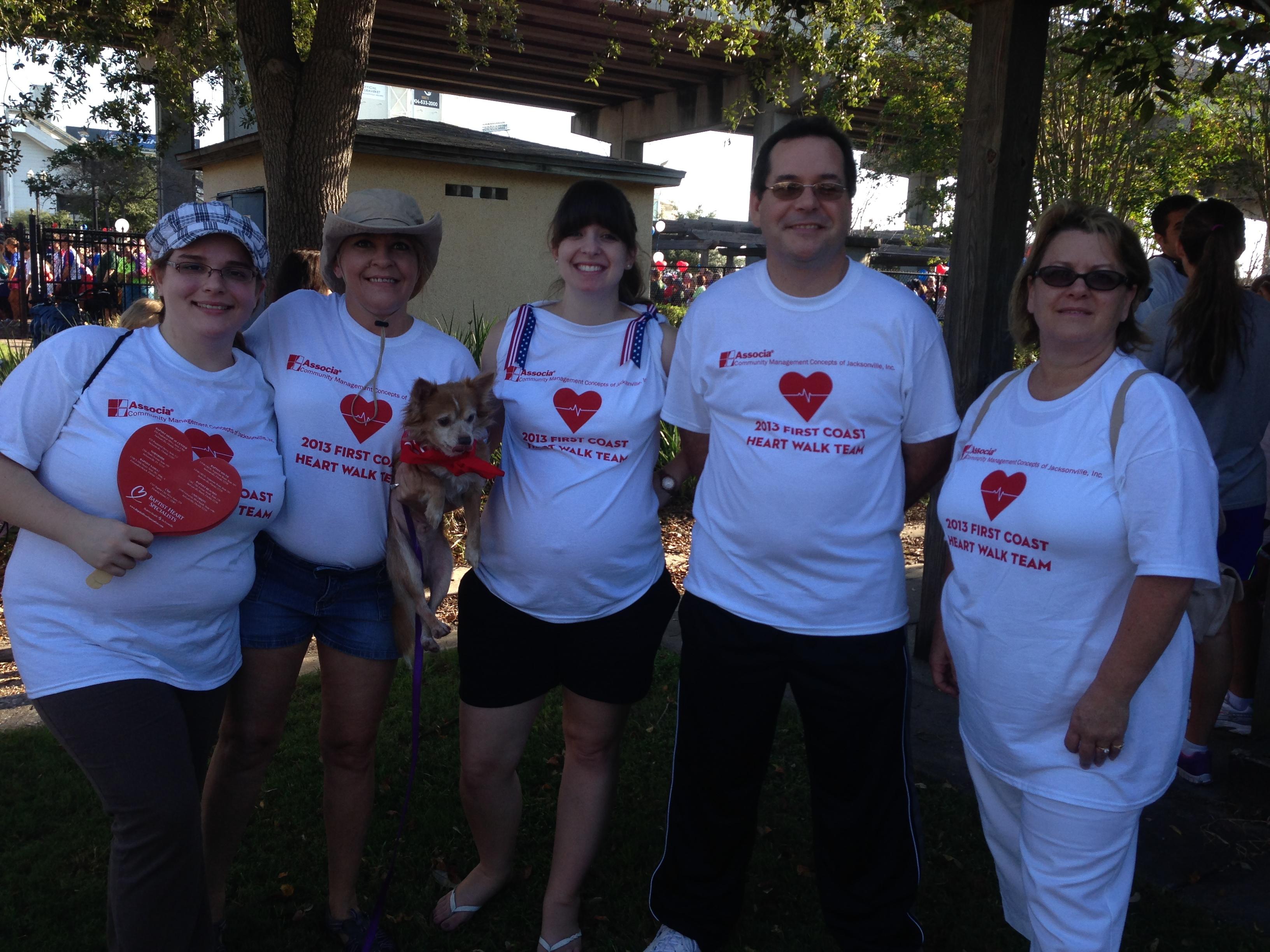 Shirt design jacksonville fl - 2013 First Coast Heart Walk Cmc Of Jacksonville Team T Shirt Photo