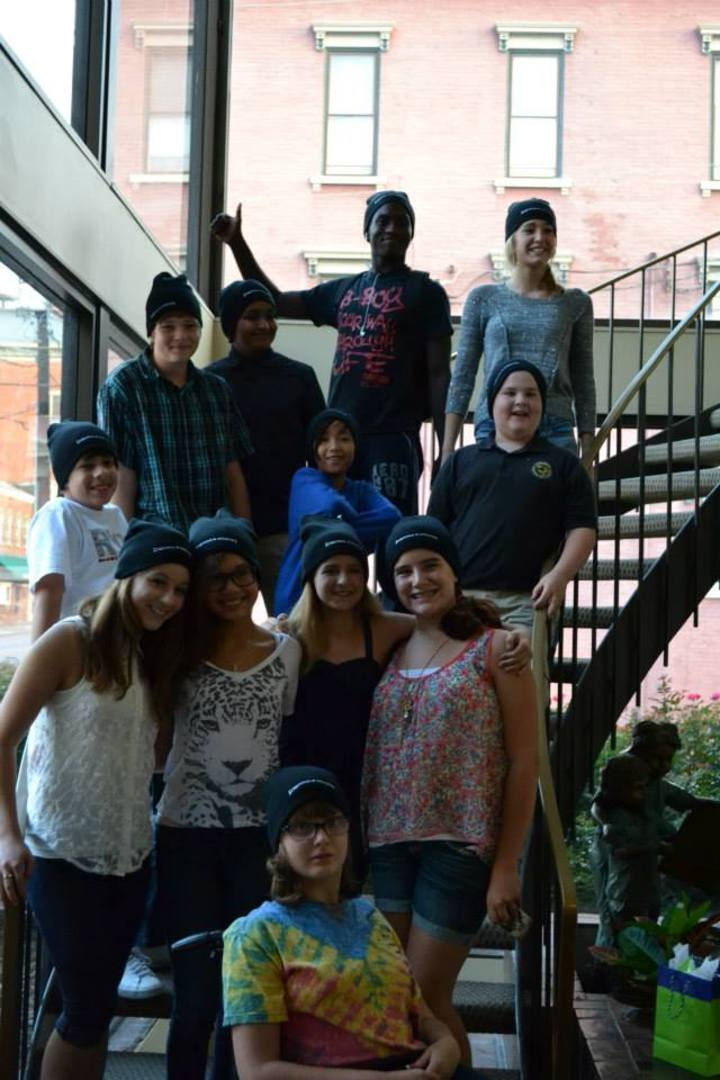 Before The Bullying Music Video Cast In Their Custom Ink Everyone Is Someone Knit Hats! T-Shirt Photo