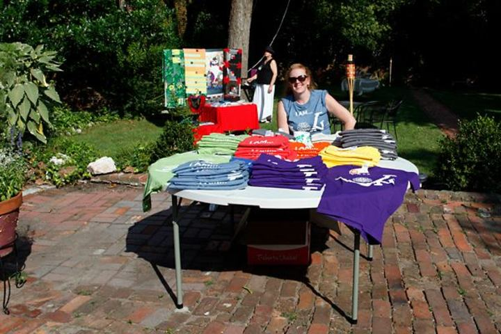Meg Sharin' The Love At Artcrawl T-Shirt Photo