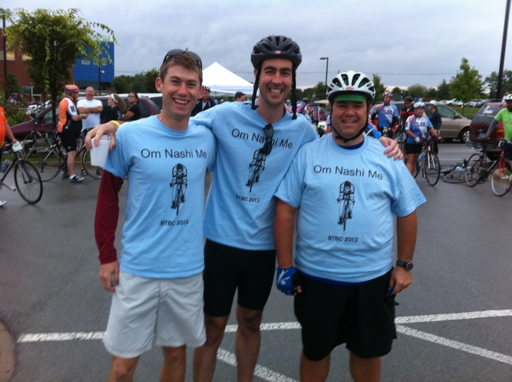 Team Om Nashi Me At Bike To Beat Cancer 2013 T-Shirt Photo