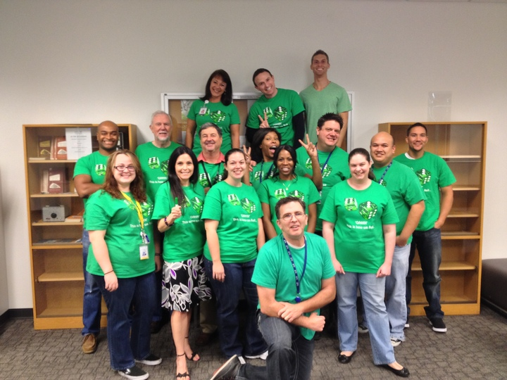 De Vry University Green Is How We Roll! T-Shirt Photo
