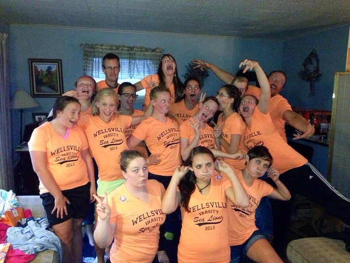 Teenage Girls And Their Coaches!! T-Shirt Photo