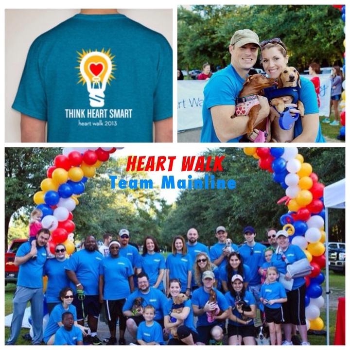 Mainline Heart Walk Team T-Shirt Photo