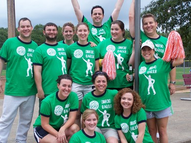 Disco Balls Kickball Team T-Shirt Photo