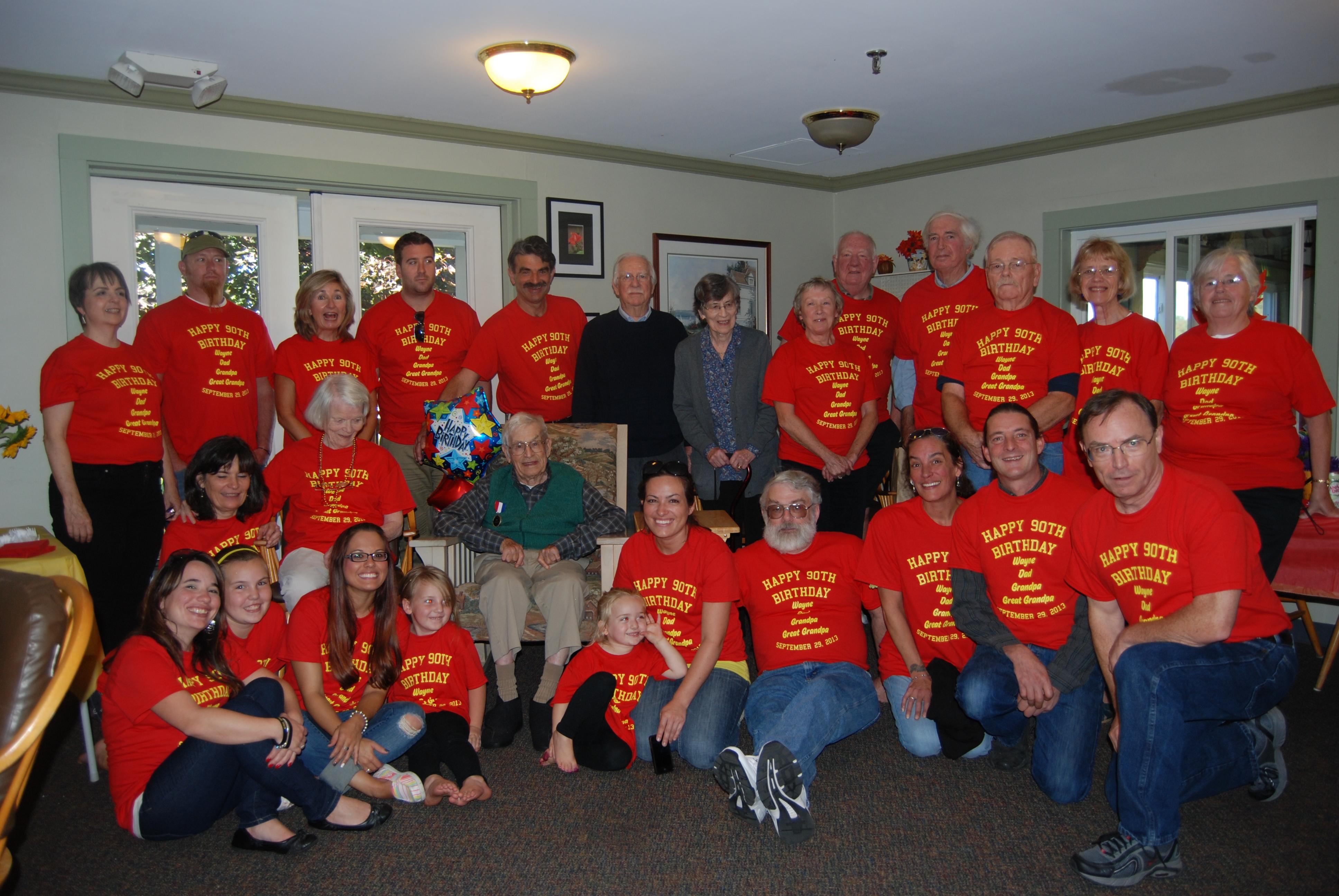 Shirt design jacksonville fl - Happy 90th Wayne Dad Uncle Wayne Grandpa And Great Grandpa T