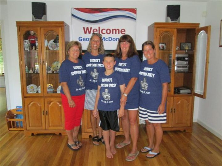 After George's Adoption Was Official, We Hosted A Party With His School Teachers, Family And Friends! T-Shirt Photo