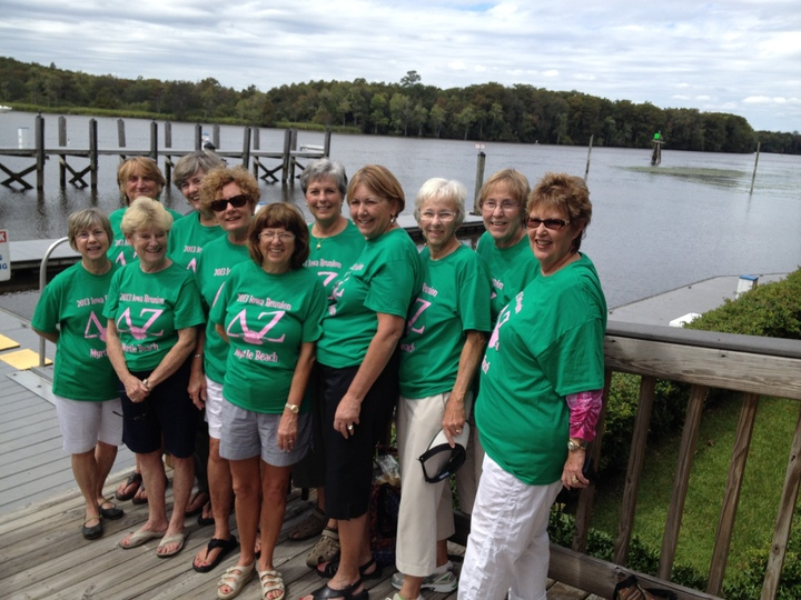 University Of Iowa Delta Zetas Reunite In Myrtle Beach  T-Shirt Photo